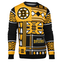 "Boston Bruins Official Men's NHL ""Ugly Sweater"" by Klew"