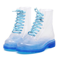Clear Combat Boots