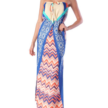 All About Print Tube Maxi Dress