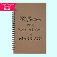 Reflections On Our Second Year of Marriage - Journal, Book, Custom Journal, Sketchbook, Scrapbook, Extra-Heavyweight Covers