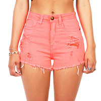 Glow Shred High Waist Shorts | Shorts at Pink Ice