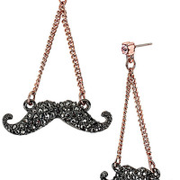 BetseyJohnson.com - MYSTERIOUS MUSTACHE CHANDELIER CRYSTAL
