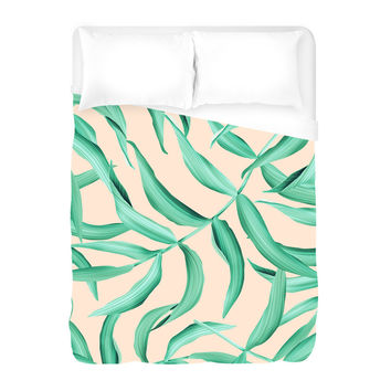 Leaf of the Palm Duvet Cover