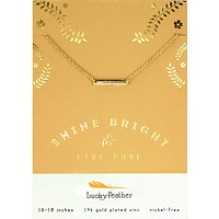 Shine Bright Bar - 14K Gold Dipped Necklace
