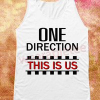 One Direction Tank Top This Is Us Shirts White TShirts Vest Women Tank Top Women Shirts Women Top Tunic Women Sleeveless Singlet Rock Shirts