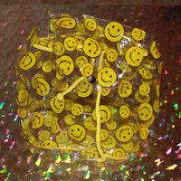 90s SMILEY FACE clear pvc mini backpack