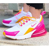 AIR MAX 270 NIKE Fashion Women Men Casual Air Cushion Running Sport Shoes Sneakers 1#