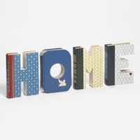 Second Nature by Hand 'Home' One of a Kind Hand-Carved Recycled Book Shelf Art