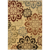 """Darcy 4441W Floral Beige-Rust Area Rug (3'3"""" X 5')"""