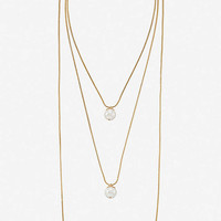 Cascading Pearl Pendant Necklace from EXPRESS