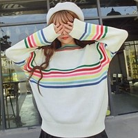 Retro Rainbow Sweater