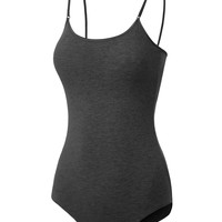LE3NO Womens Shapewear Bodysuit With Adjustable Straps (CLEARANCE)