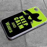 Keep Calm And Wicked Custom iPhone 4 case, iPhone 5 case, Samsung galaxy case, Samsung Galaxy s3 , Samsung Galaxy s4 case
