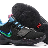 KUYOU B181 Nike Zoom Paul George PG1 Flyknit Breathable Basketball Shoes Black Red Blue