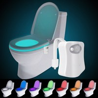 8 Color USB Charge Toilet Night Light Bathroom Motion Activated Sensor LED Toilet Seat Light