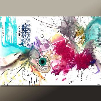 Abstract Art Print Contemporary Canvas Wrapped Print by Destiny Womack , Hypnotized - dWo