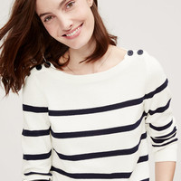 Petite Striped Sailor Sweater | LOFT