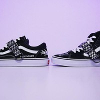 "Line Of Life x vans old skool Running Sneaker ""Black&White"" VN-ODBHCUT"