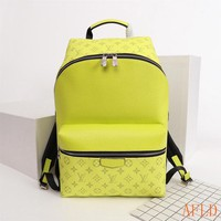 HCXX 19Aug 652 Louis Vuitton LV M33450 Apollo Taiga Leather Fashion Print Backpack 40-37-20cm