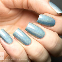 You're My Boy Blue  Blue Ultra Holographic Nail Polish by ILoveNP