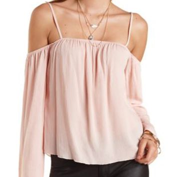 Cold Shoulder Swing Top by Charlotte Russe