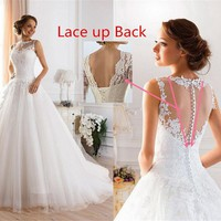9036 2016 lace White Ivory Gown Wedding Dresses for bride plus size maxi Customer made size 2 4 6 8 10 12 14 16 18 20 22 24 26