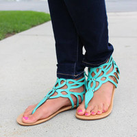 Turquoise Studded Sandals *CLEARANCE*