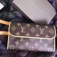 Louis Vuitton LV Fashion Women Leather Satchel Waist Bag Shoulder Bag Single Bag