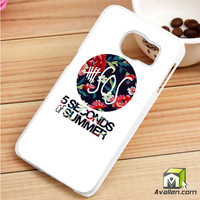 5 Second of Summer Floral Samsung Galaxy S6 Edge case by Avallen