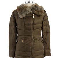 Vince Camuto Puffer Jacket with Faux Fur Collar