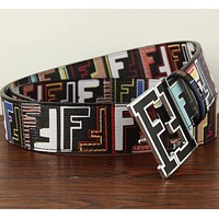 FENDI Woman Men Fashion Smooth Buckle Belt Leather Belt-1