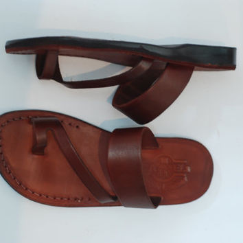 leather sandal woman | brown leather sandal | wedding sandal | Jesus sandals woman Greece shoe