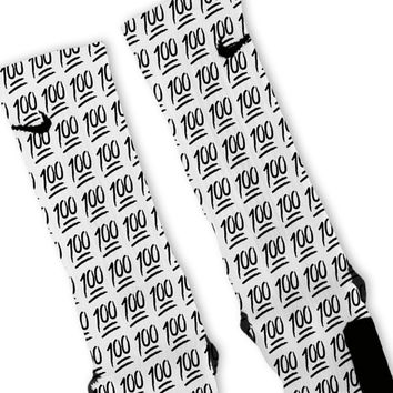 Keep It 100 Emoji Custom Nike Elite Socks