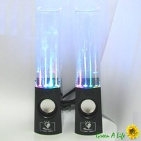 Water Dance Fountain Black Speaker System for iPhone Z10 Galaxy S4 Note 2 HTC PC (black)