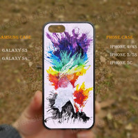 Rainbow,fox,Dream,clolors,iPhone 5s case,iPhone 5C case,Samsung Galaxy S3,S4 Case,iPhone 5 Case,iPhone 4,4s case,water proof,Gifts