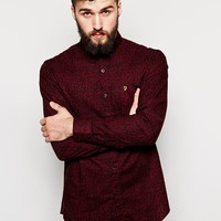 Farah Vintage Shirt with Hand Drawn Triangle Print in Slim Fit at asos.com