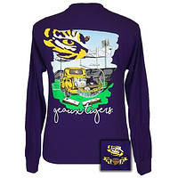 SALE Louisaiana LSU Tigers Tailgates & Touchdowns Party Long Sleeve T-Shirt