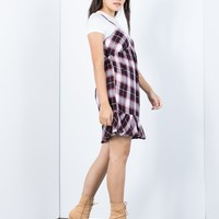 Layer Up Plaid Dress