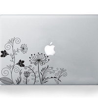 Floral Macbook Decal Stickers - Flower Decal for Macbook Pro Air - Vinyl Sticker -Vinyl Decal -Latpop Decal -Lovely Flowers