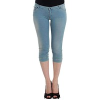 Blue Capri Pants Cropped Jeans