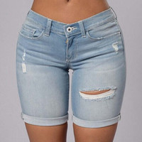 Women Sexy Jeans Denims Shorts Pants a12911