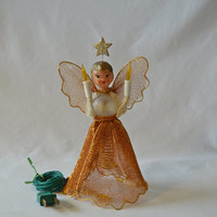 Vintage Lighted Angle Tree Topper