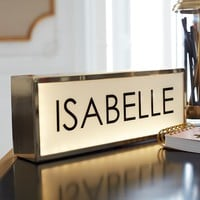 The Emily & Meritt Personalized Light Box