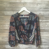 Karine Cross Over Top (Navy)