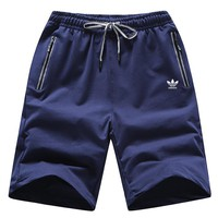 ADIDAS Clover summer casual men's fashion loose sports beach pants five pants Blue