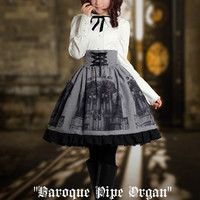 """Gothic&Classical Lolita, """"Baroque Pipe Organ"""" Skirt*3colors Instant Shipping"""