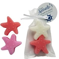 Seashell Starfish Favors - Wedding Bridal Shower Baby Shower Ideas, Nautical theme with Personalized Tags  - Pack of 10