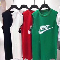 """Nike"" Women Sport Casual Letter Print Sleeveless Vest Dress"