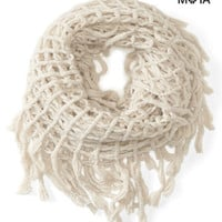 FRINGED FISHERMAN INFINITY SCARF