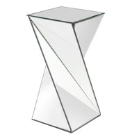 Aries Twisted Mirrored End Table